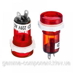 Світлодіодний індикатор XD15-1, 220V, червоний