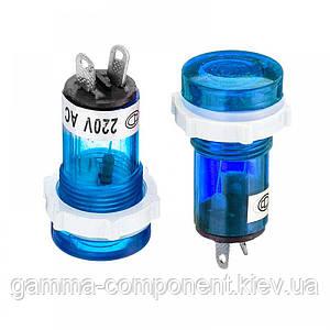 Світлодіодний індикатор XD15-1, 220V, синій