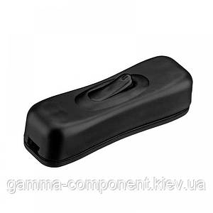 Клавішний перемикач для бра KCD5-304, чорний