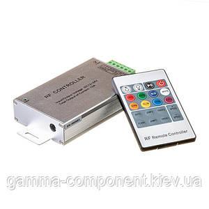 Контроллер для светодиодной ленты RGB 12 A, 144 Вт, радиопульт 20 кнопок