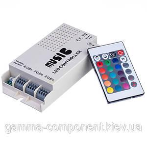 Контроллер для светодиодной ленты RGB (аудио) 9 A, 108 Вт, радиопульт 24 кнопки