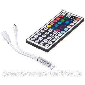 Контроллер mini для светодиодной ленты RGB 6 A, 72 Вт, ИК пульт 44 кнопки