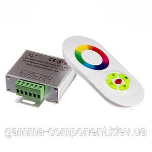 Контроллер для светодиодной ленты RGB 18 A, 216 Вт, белый радиопульт сенсорный