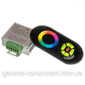 Контролер для світлодіодної стрічки RGB 18 A, 216 Вт, чорний радіопульт сенсорний
