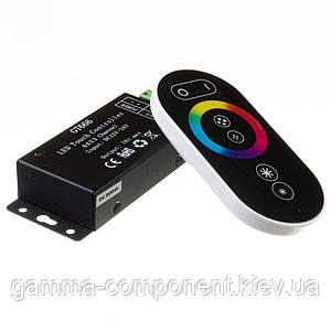 Контроллер для светодиодной ленты RGB 18 A, 216 Вт, черный радиопульт сенсорный 6 кнопок