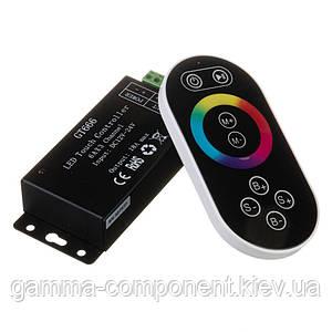 Контролер для світлодіодної стрічки RGB 18 A, 216 Вт, чорний радіопульт сенсорний 8 кнопок