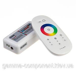 Контролер для світлодіодної стрічки RGB 18 A, 216 Вт, білий радіопульт сенсорний 8 кнопок