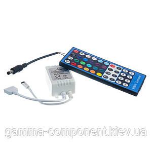 Контроллер для светодиодной ленты RGBW 8 A, 96 Вт, ИК пульт 40 кнопок