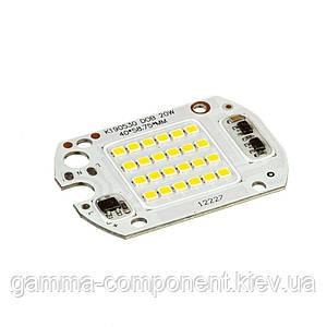Світлодіодна матриця для прожектора з IC драйвером 20 Вт, 6000К, 220 В