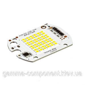 Світлодіодна матриця для прожектора з IC драйвером 50 Вт, 6000К, 220 В