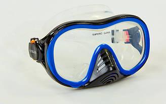 Маска для плавания planeta-sport Zelart M171-SIL Черно-синий, КОД: 2351814