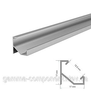 Алюминиевый профиль анодированный для светодидных лент ПФ-20 угловой, 2м