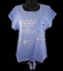Жіноча футболка Levisha 50304 XL блакитна