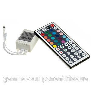 Контроллер для светодиодной ленты RGB 12 A, 144 Вт, ИК пульт 44 кнопки