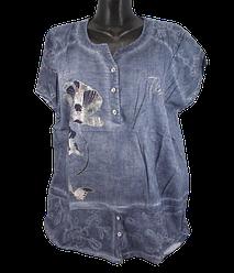 Жіноча блуза батал Agora 8590 4XL сіра