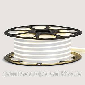 Світлодіодний неон 220В білий AVT-1 smd 2835-120 лід/м 7Вт/м, герметичний. Бухта 50 метрів