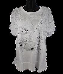 Жіноча футболка Levisha 50240 3XL-4XL біла