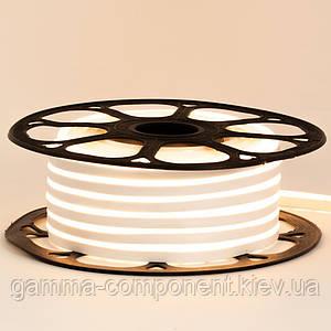 Світлодіодний неон 12В білий теплий smd 2835-120 лід/м 6Вт/м, 8*16мм ПВХ