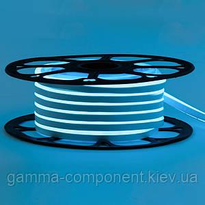 Світлодіодний неон 12В блакитний лід smd 2835-120 лід/м 6Вт/м, 8*16мм ПВХ