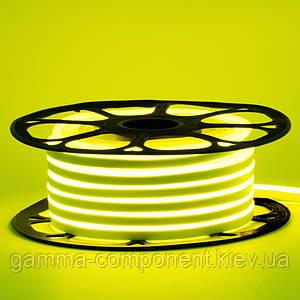 Світлодіодний неон 12В лимонний жовтий smd 2835-120 лід/м 6Вт/м, 8*16мм ПВХ