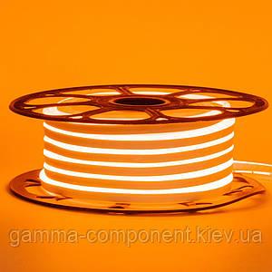 Світлодіодний неон 12В помаранчевий smd 2835-120 лід/м 6Вт/м, 8*16мм ПВХ