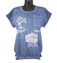 Жіноча блуза батал Agora 2811 3XL синя