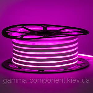 Світлодіодний неон 12В рожевий smd 2835-120 лід/м 6Вт/м, 8*16мм ПВХ