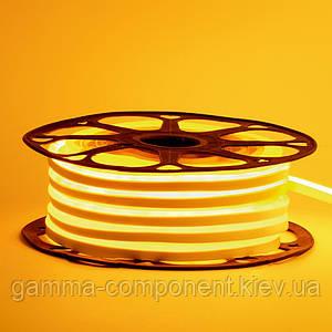 Світлодіодний неон 12В жовтий smd 2835-120 лід/м 6Вт/м, 8*16мм ПВХ