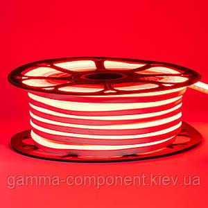 Світлодіодний неон 220В червоний AVT-1 smd 2835-120 лід/м 7Вт/м, герметичний