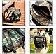 Складной стул рюкзак для рыбалки 35х34см Хаки, стул раскладной для пикника, туристический (ST), фото 3