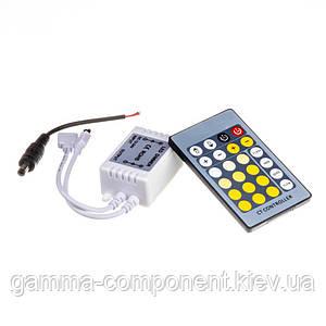 Контроллер для светодиодной ленты W+WW 6 A, 72 Вт, ИК 24 кнопки