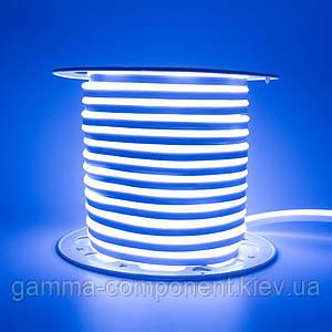 Світлодіодний неон 220В синій AVT smd 2835-120 лід/м 7Вт/м, герметичний, бухти за 50 метрів