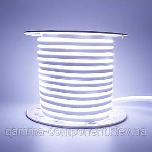 Світлодіодний неон 220В білий холодний AVT smd 2835-120 лід/м 7Вт/м, герметичний. Бухта 50 метрів.