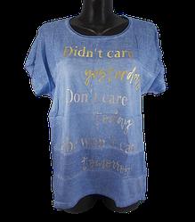 Жіноча футболка Levisha 50263 L блакитна