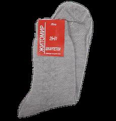 Чоловічі шкарпетки сітка Льон 43-46 сірі