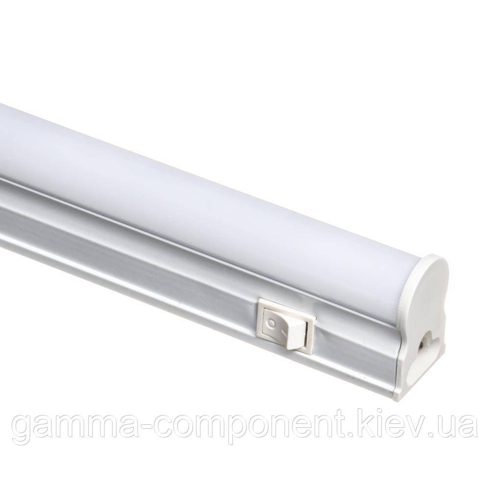 Світлодіодний світильник Т5 лінійний накладної 18Вт, холодний білий, 120 см, IP33