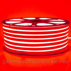 Світлодіодний неон 220В червоний smd 2835-120 лід/м 12Вт/м, герметичний. Бухта 50 метрів.
