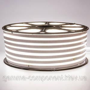 Світлодіодний неон 220В білий smd 2835-120 лід/м 12Вт/м, герметичний. Бухта 50 метрів.