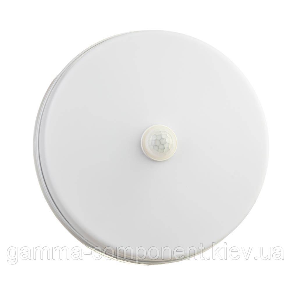 Светодиодный светильник с датчиком движения накладной ЖКХ3 24Вт, круглый, холодный белый, IP44