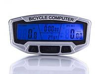Велокомпьютер с подсветкой,термометром 28 функций (велокомп'ютер)