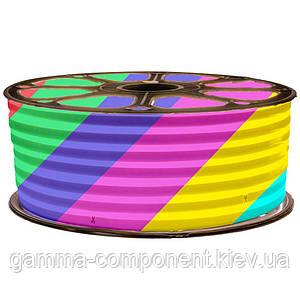 Світлодіодний неон 12В RGB smd4040-96 лід/м 12Вт/м, 6*12мм силікон. Бухта 50 метрів.