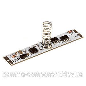 Сенсор-диммер ИК для светодиодной ленты 10А 12-24В ON/OFF в LED профиль (Green Led)