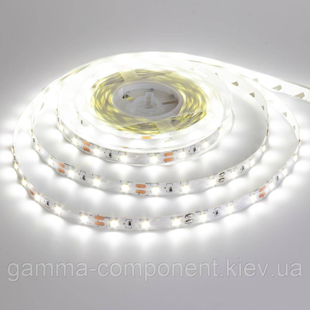 Світлодіодна стрічка SMD 3528 (60 LED/м), білий, IP65, 12В бобіни від 5 метрів