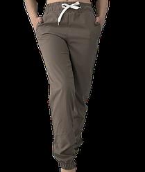 Жіночі брюки Elegance EL103 46 кавові