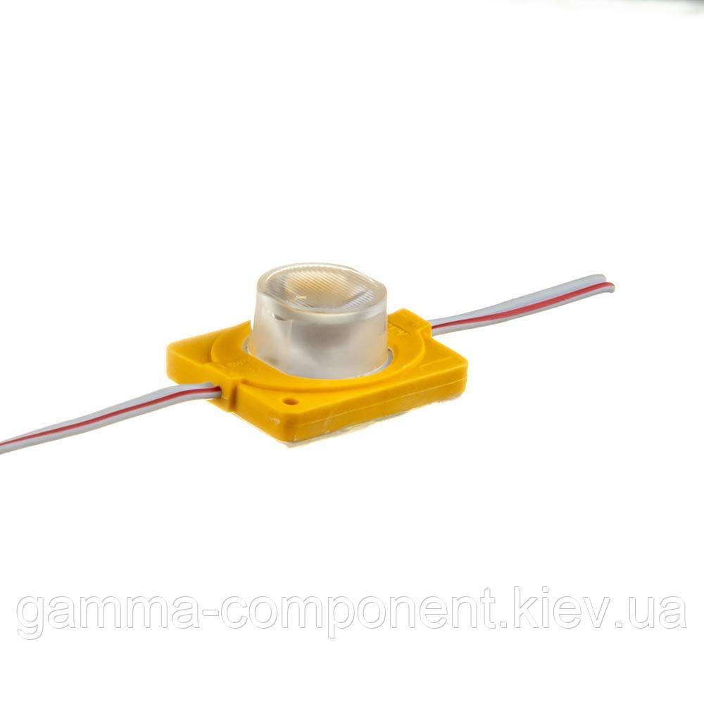 Инжекторный светодиодный модуль 12В SMD3030, 1led, 1.5Вт, желтый, IP65