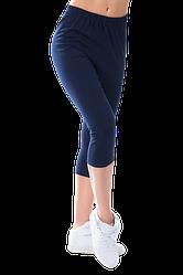Жіночі капрі віскоза Kolo 6XL темно-сині
