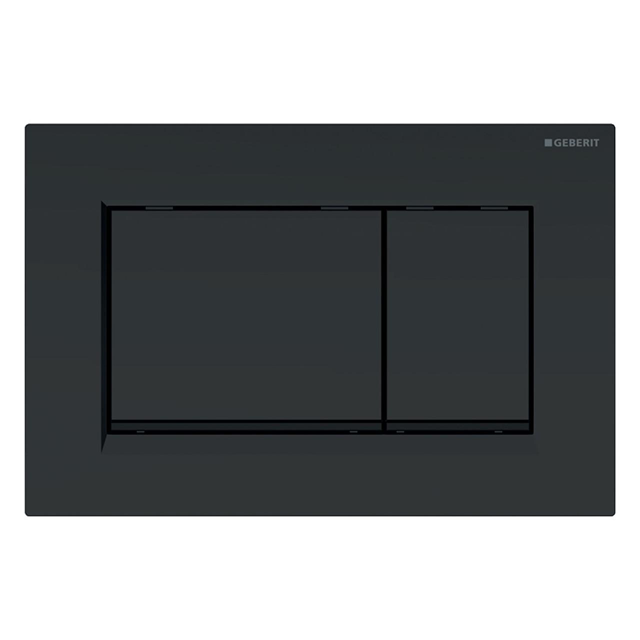 SIGMA30 смывная клавиша, двойной смыв: черный матовый, легко чистящееся покрытие, черный