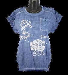 Жіноча блуза батал Agora 2811 4XL синя