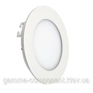 Светодиодный светильник точечный 6Вт, круглый, белый, IP20