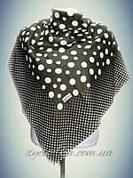 Кашемировый платок Горошек хаки